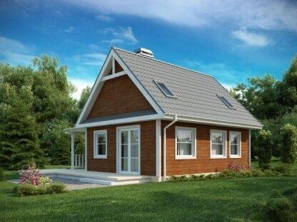 Строительство дома из бруса с мансардой
