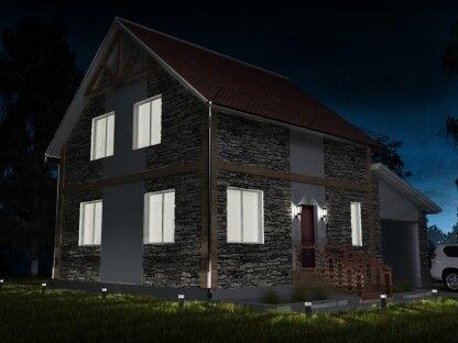 Полутораэтажный дом из бруса