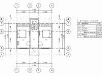 Проект дома из бруса в стиле 'шале' - план второго этажа