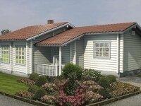 Лейкленд - Проект одноэтажного дома из бруса, 10 х 16 м., 114 кв. м., с террасой
