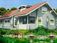 Фленсбург - Проект дома из бруса: 9 х 14 м., мансарда, 235 кв. м., с террасой