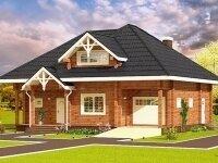 Гера - Проект дома из бруса: 10 х 12 м., мансарда, 202 кв. м., с гаражом, бойлерной и террасой