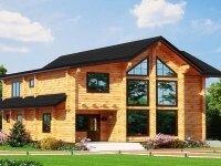 Хедли - Проект двухэтажного дома из бруса: 13 х 14 м., 175 кв. м., с террасой