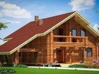 Виттен - Проект дома из бруса: 10 х 11 м., мансарда, 142 кв. м., с гаражом, бойлерной, балконом и террасой