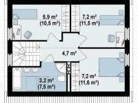 План второго этажа дома из бруса