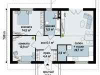 План-схема дома из бруса