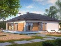 Карлсбад - Проект одноэтажного дома из бруса, 15 х 16 м., 151 кв. м., с гаражом