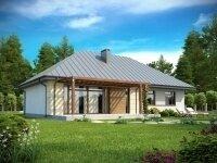 Грешам - Проект одноэтажного дома из бруса, 10 х 16 м., 124 кв. м.