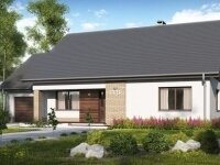 Арвада - Проект одноэтажного дома из бруса, 12 х 16 м., 138 кв. м., с гаражом