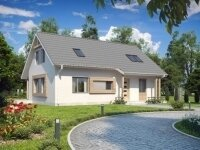Постдам - Проект дома из бруса с мансардой: 8 х 13 м., 152 кв. м., с террасой