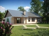 Элгин - Проект одноэтажного дома из бруса, 10 х 16 м., 123 кв. м.