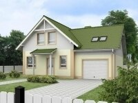 Торнио - Проект полутораэтажного дома из бруса с гаражом: 10 х 12 м., 168 кв. м.