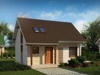 Кассель - Проект дома из бруса с мансардой: 7 х 9 м., 92 кв. м.