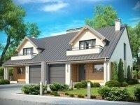 Миккели - Проект полутораэтажного дома из бруса на двух хозяев с гаражом и террасой: 14 х 20 м., 318 кв. м.
