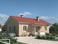 Рочестер - Проект одноэтажного дома из бруса, 10 х 11 м., 85 кв. м., с террасой