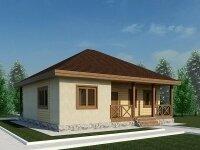 Норман - Проект одноэтажного дома из бруса, 11 х 11 м., 124 кв. м.
