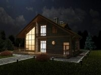 Вид дома из бруса