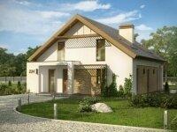 Ремшайд - Проект дома из бруса: 10 х 13 м., мансарда, 156 кв. м., с балконом и террасой
