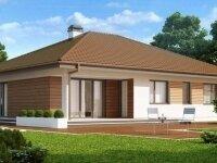 Бербанк - Проект одноэтажного дома из бруса, 14 х 16 м., 158 кв. м., с террасой и гаражом