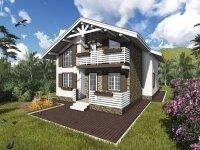 Строительство дома из бруса в стиле 'шале' в Новосибирске