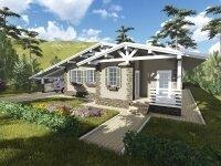 Проект дома из бруса в стиле 'шале'